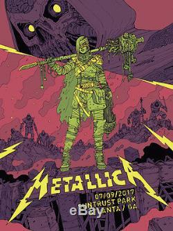 Metallica 7/9/2017 VIP Poster Atlanta GA Silkscreen Variant A/P Artist Proof