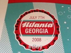 Methane Studios Dave Matthews Band poster Atlanta 2008 s/n 374/500 NM Coca Cola