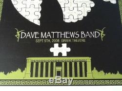 Methane Studios Dave Matthews Band poster Berkeley Greek 2008 39/780 NM