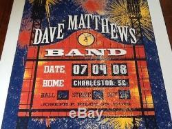 Methane Studios Dave Matthews Band poster Charleston SC 2008 AP Mint Rare signed