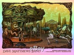 NEW Dave Matthews Band DMB Poster 2019 Gorge Nostalgia Foil LE 60 AP Signed Mint