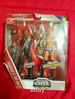 NEW WWE Mattel Elite Faarooq & The Rock 2 Pack Nation Of Domination 887961273670
