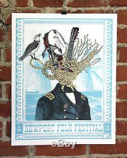 Newport Folk Festival Poster 2016 Signed A/P Artist Proof