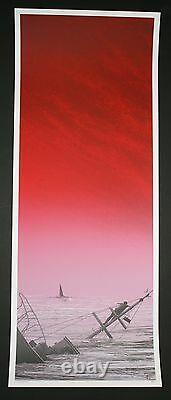 No Man's Land Jaws JC Richard Poster 9.5 x 25 Over bight Edition Rare