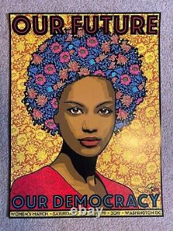 Official Poster Our Future 2019 Women's March Washington Chuck Sperry SIGNED