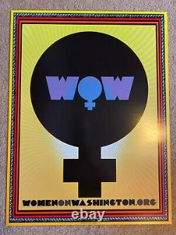 Official Women On Washington March Poster Resist 2017 by Chuck Sperry SIGNED