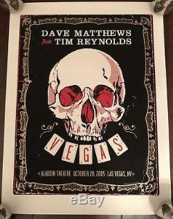 Original Dave Matthews Tim Reynolds Poster Las Vegas 2005 Aladdin Theater