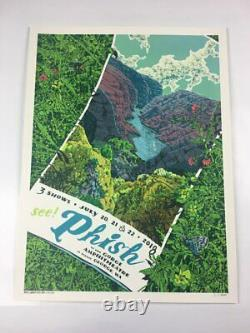 Phish 7/20-22/2018 Poster Gorge Amp George WA Signed & Numbered #/1000