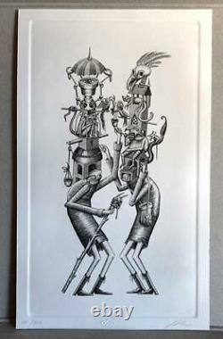 Phlegm Customary Hats Street Art Print Poster Limited Edition Luxuria Tributary