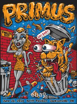 Primus 6/26/2018 Jacksonville OR Poster Signed & Numbered