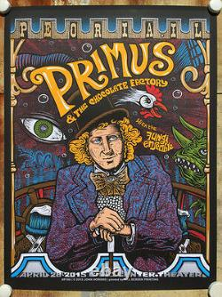 Primus Poster 4/28/2015 Peoria IL Signed & Numbered #/27 Variant Foil Wonka