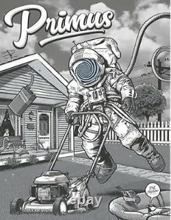 Primus Poster 6/12/2018 PNC Pavilion Cincinnati OH Signed & Numbered #/100