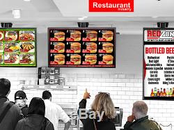 QSR Signage Board Player WithOur FREE DMB Software With 1 Page Webpage Menu Design