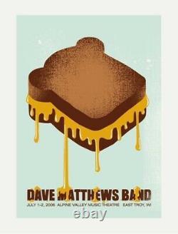 RARE Dave Matthews Band 2006 APLINE VALLEY, WI! Methane Studios Concert Poster