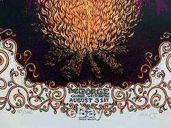RARE Dave Matthews Band DMB The Gorge 8/31/12 Poster Signed & Numbered 84/1000