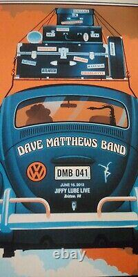 RARE Dave Matthews Band Jiffy Lube Live Poster Bristow Virginia 2012 MINT