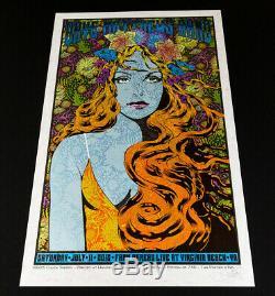 ROSE HAIR VARIANT Dave Matthews Band Virginia Beach Screen Print by Chuck Sperry