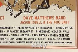 Railbird Festival Poster 2021 dave matthews band mmj keenland race track new