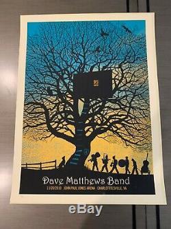 Rare 2010 charlotttesville Treehouse dave matthews band poster