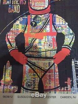 Rare Dave Matthews Band Poster 6/26/2012 Camden Nj. Spaceman