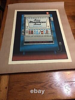 Rare Dave Matthews Band Poster Hartford Ct 5/25/2012 Candy Machine