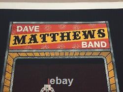 Rare Dave Matthews Band Poster Hartford Ct 5/26/2012 Toy Machine Claw S/n 34/675