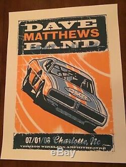 Rare Dave Matthews Band poster Charlotte NC 2008 AP Mint Methane Avett Panic Moe