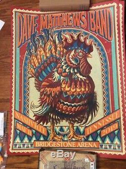 SOLD OUT- DAVE MATTHEWS BAND 2019 Show Print Nashville Concert Tour Poster DMB