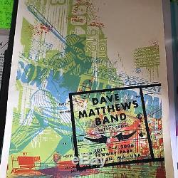 Semi-Rare Dave Matthews Band concert poster Fenway Park Boston 2006