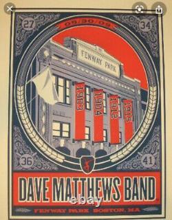 Set Of Dave Matthews Band 2009 Boston Fenway Methane Posters 5/29/2009 5/30/2009