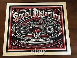 Social Distortion poster 2011 Tour Mike Ness Lucero Metallica Rare Pearl Jam DMB