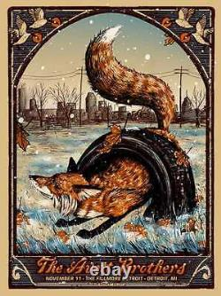 The Avett Brothers 11/10/2016 Poster Detroit MI N2 Signed & Numbered #/200