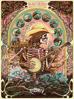 The Avett Brothers 4/10/2015 Poster Tallahassee FL GID S/N #/200 Miles Tsang