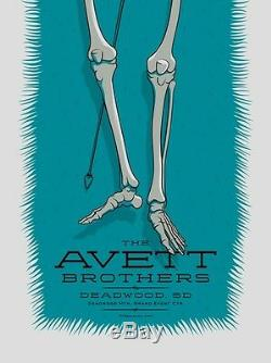 The Avett Brothers 7/6/2014 Poster Deadwood SD Signed & Numbered #/200