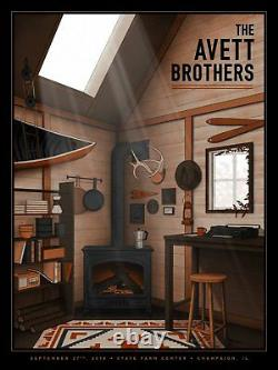 The Avett Brothers 9/27/18 Poster Champaign IL Signed A/P Artist Edition