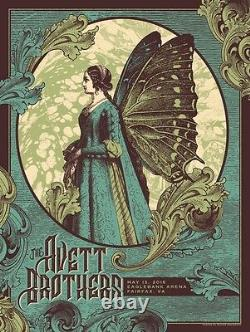 The Avett Brothers Poster 2016 Fairfax VA Signed & Numbered #/200
