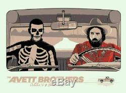 The Avett Brothers Poster Halloween Greenville Nc 10-31-19 Sold Out A/e #300