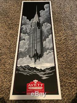 The Avett Brothers Poster by Ken Taylor 5/9/2012 in New York, NY Numbered xx/120
