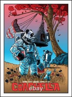 Tim Doyle 2015 Coachella Poster Signed A/P Artist Proof Copy Rare! Emek