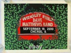 VERY RARE Dave Matthews Band Poster Wrigley Chicago 2010 Numbered (1032/1250)