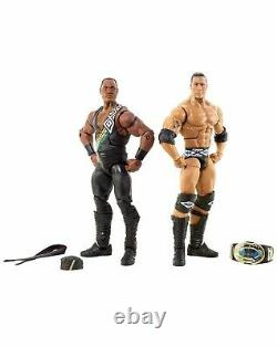 WWE Mattel Elite Flashback Faarooq & The Rock 2 Pack Nation Of Domination